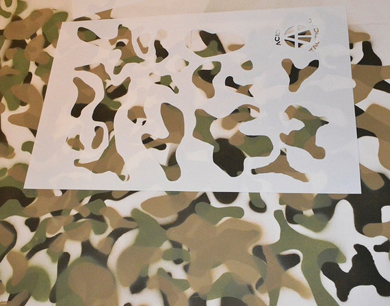 Acid tactical 2 pack 9x14 camouflage airbrush spray for Camo paint template