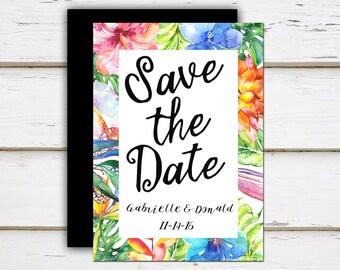 Ailani - Printable Tropical Save the Date