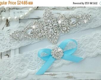 Blue Bow Wedding Garter, Garter, Wedding Garter Set, Blue Garter, Bridal Garter Set, Lace Garter, Blue Wedding Garter, Garter Set