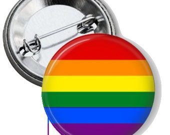 "LGBT Pride 1.25"" Pin Back Button"