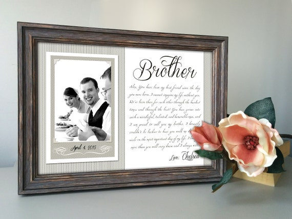 Brother Wedding Gift: Brother Wedding Gift Best Friend Thank You Gift Wedding