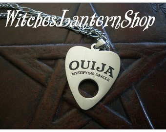Ouija board necklace stainless steel