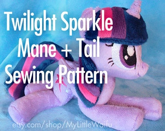 Twilight Sparkle Mane + Tail Sewing Pattern