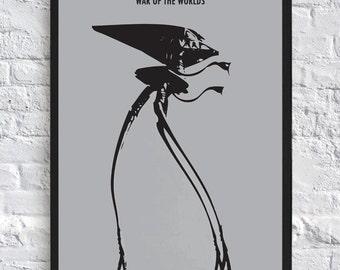 The War of the Worlds - Tripod - Alien - Minimalist - Wall Art - A4 - Movie Poster