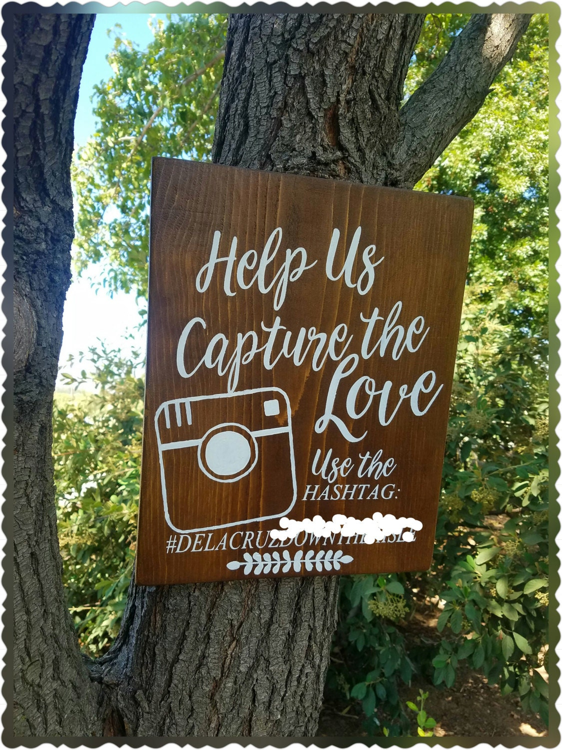 Hashtag wood wedding sign instagram hashtag sign wood for Decor hashtags