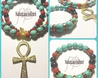 Kemet Nu Ankhlace Set ( Ankh Necklace & Bracelet)