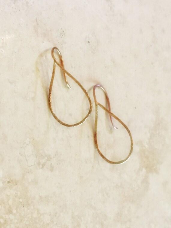 mini micro teardrop hoops