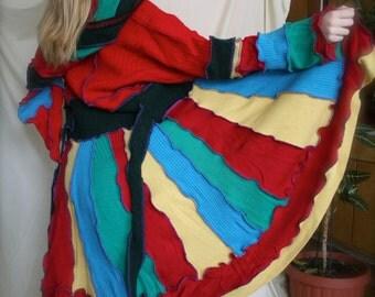 Sweater coat, pixie coat , carousel coat