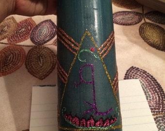 Goddess Lakshmi spell candle