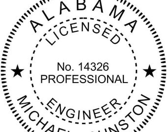 15% OFF NOW Alabama Engineer Stamp Seal- Self-Inking Stamp - (AL_engineer)