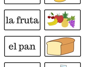 La Comida - Food - Spanish Flash Cards
