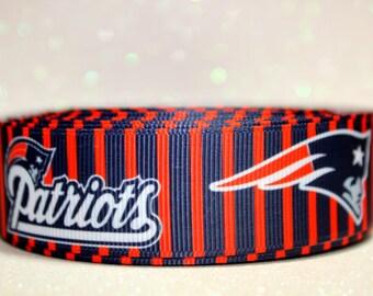 "1"" New England Patriots Ribbon - Patriots - NFL - Football Ribbon"