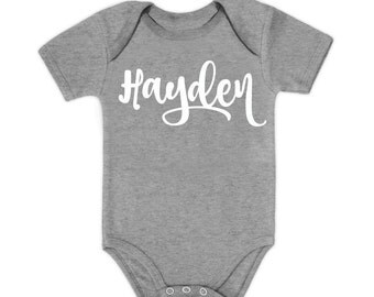 Personalized Baby Onesie DIY || Name Iron On, Diy Onesie, Baby Boy Onesie, Baby Girl Onesie, Heat Transfer Name Decal, Iron On Name Decal