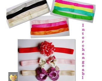CHOICE: Interchangeable Headbands Loop Center Hair Elastic Infant Toddler Girls