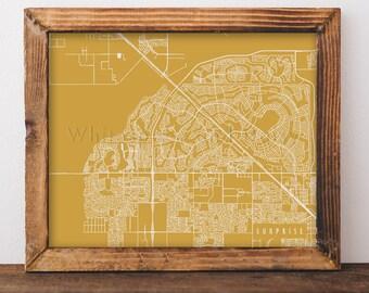Surprise Map Art Surprise Print Surprise Art Print Surprise Poster Surprise Printable Surprise City Art Surprise Arizona Art