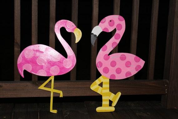 Pink Flamingo Wooden Door Hanger