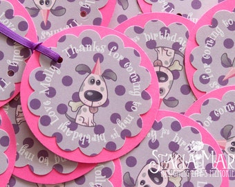 Puppy Dog Birthday Favor Tags