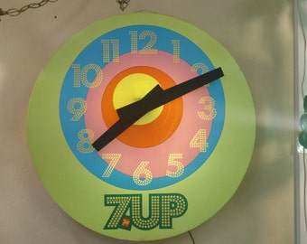 Huge Retro 7-Up Clock
