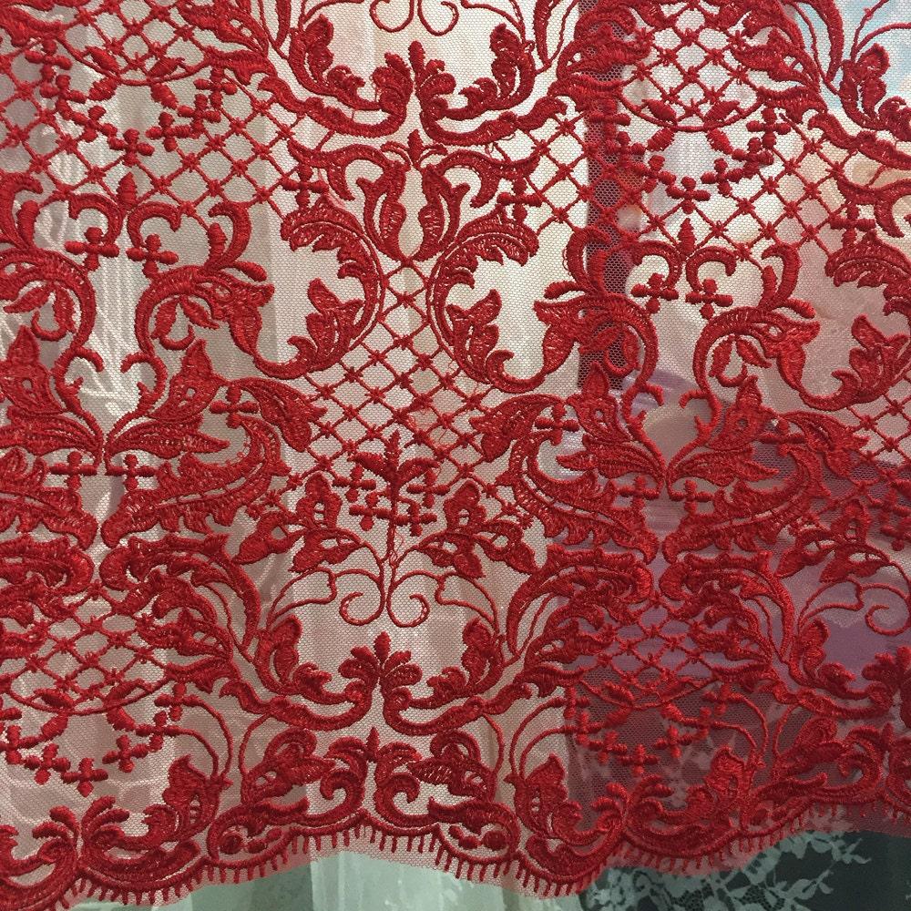 Wedding dress lace fabric ivory lace fabric red lace fabric for Wedding dress lace fabric