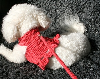 Handmade Dog Harness - crochet pet harness from 100% cotton, super friendly harness for your pet