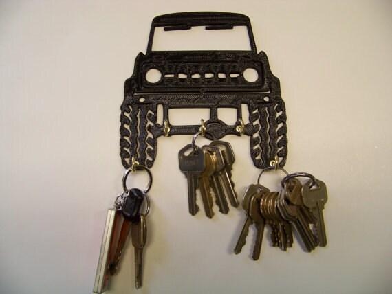 Plastic 5 Vintage Bronco Key Rack / Jewelry Organizer