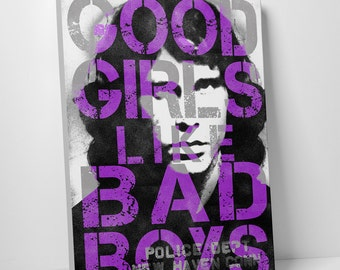 Good Girls Like Bad Boys Gallery Wrapped Canvas Print