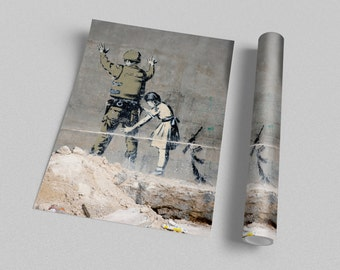 Banksy - Soldier and Girl Archival Canvas Print