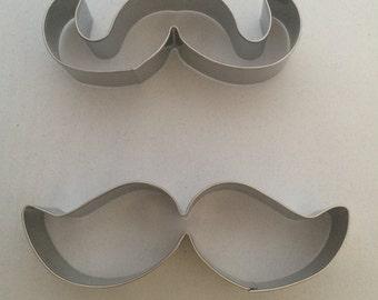 Moustache Cookie Cutter Set - contains 2.