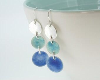Gift for Friend | Blue Seaside Shades Earrings