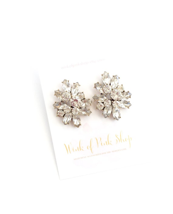 Crystal Luxe Cluster Earrings