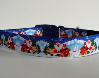 Santa Claus in North Pole Dog Christmas Collar READY TO SHIP!