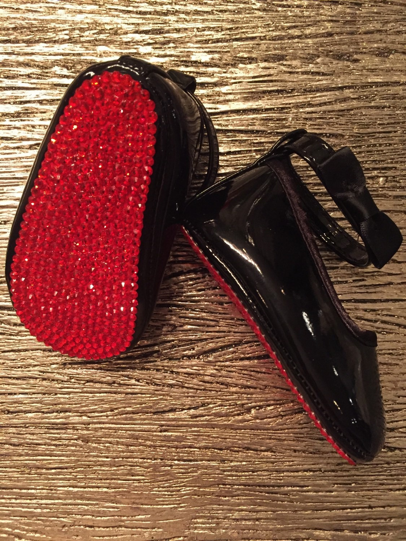 Christian Louboutin Inspired Red Bottom Crystal Baby Crib