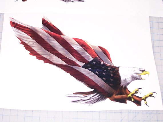 Superbdecals Pair American Flag Eagle 2 Graphic Decal Rv
