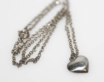 Pewter Heart Necklace - Plain