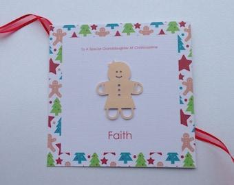 Personalised Gingerbread Christmas Card