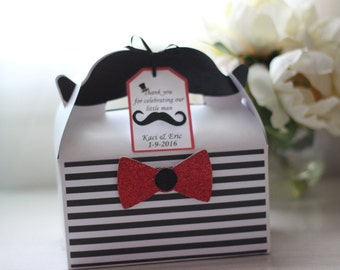Mustache and Bow Favor Boxes
