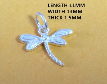 5 Sterling Silver Tiny Dragonfly Charm, Dragon Fly Charm for Necklace Bracelet Earring, 925 Silver Dragonfly Charm, Dragonfly Charm - HY13