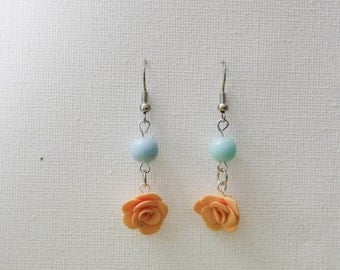 """""""Rose"""" color earring fishing."""