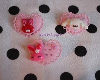 PIN pink heart