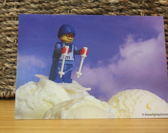 lego style greeting card