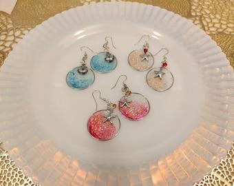 Starfish and Seashell Earrings
