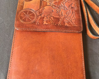 Vintage Leather Shoulder Messenger Bag Purse