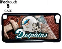 Miami Dolphins cell phone Case rubber Cover for iPod Touch 5 / Unique Football Fan Gift / IPODFIVE916
