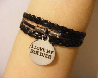 I love my soldier bracelet, I love my soldier jewelry, army wife bracelet, army wife jewelry, military wife bracelet, military wife jewelry