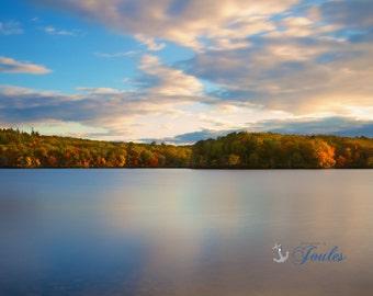 Limited Edition ~ Ponaganset Reservoir, Rhode Island, Autumn, Fall, Foliage, Waterfall, Fine Art Canvas, New England