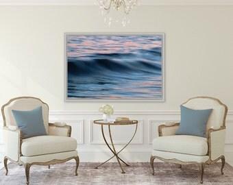 Cyan Seas ~ Roger Wheeler Beach, Narragansett, Rhode Island, Beach, Photography, Sunset, Waves, Coastal, Decor, Wall Art, Nautical, Joules