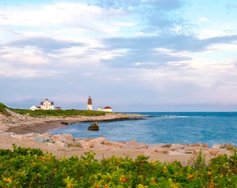 Point Judith Lighthouse ~ Narragansett, Rhode Island, Coastal Decor, Nautical, Beach Photography, Joules, Wall Art, Interior Decor, Art