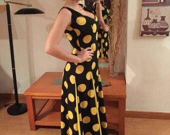 Essay on lunar black crepe dress yellow