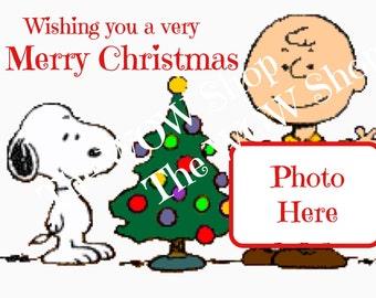 Christmas Photo Card Retro Peanuts