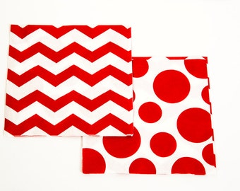 Large Red Polka Dot Napkins